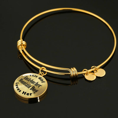 Entlebucher Mountain Dog - 18k Gold Finished Bangle Bracelet