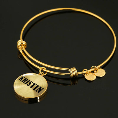 Kristin v01 - 18k Gold Finished Bangle Bracelet