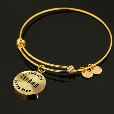 Zuchon - 18k Gold Finished Bangle Bracelet