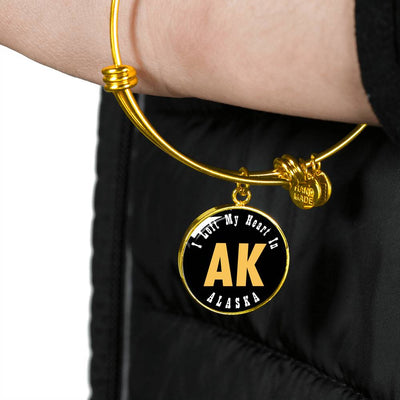 Heart In Alaska - 18k Gold Finished Bangle Bracelet