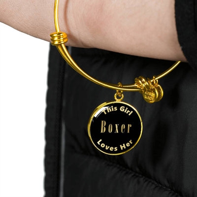 Boxer v1 - 18k Gold Finished Bangle Bracelet
