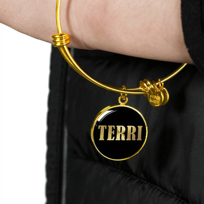 Terri v02 - 18k Gold Finished Bangle Bracelet