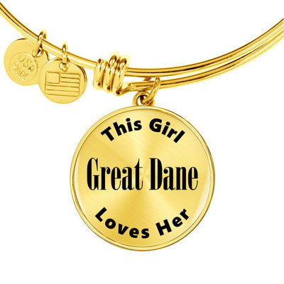 Great Dane v2 - 18k Gold Finished Bangle Bracelet