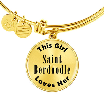 Saint Berdoodle - 18k Gold Finished Bangle Bracelet