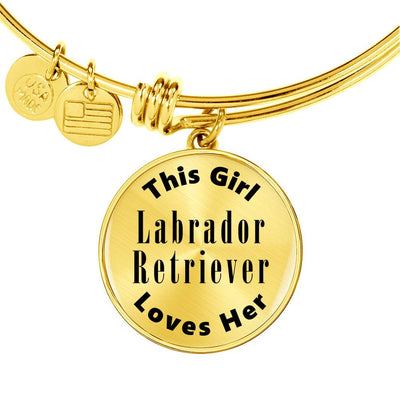 Labrador Retriever - 18k Gold Finished Bangle Bracelet