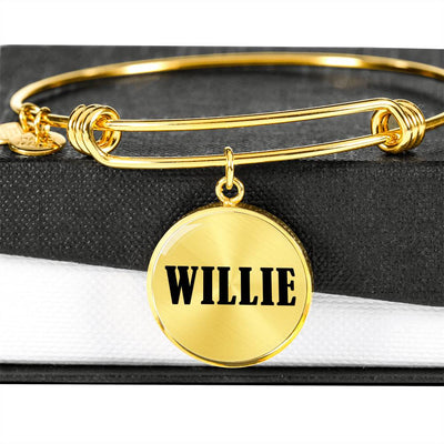 Willie v01 - 18k Gold Finished Bangle Bracelet