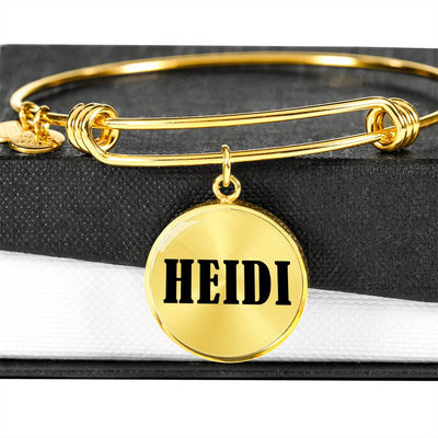 Heidi v01 - 18k Gold Finished Bangle Bracelet