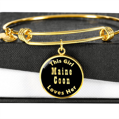 Maine Coon - 18k Gold Finished Bangle Bracelet