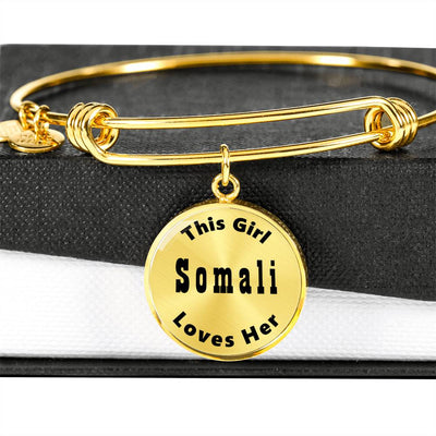 Somali - 18k Gold Finished Bangle Bracelet