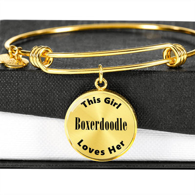 Boxerdoodle - 18k Gold Finished Bangle Bracelet