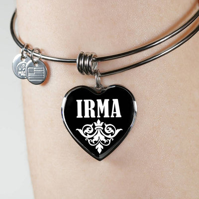 Irma v02 - Heart Pendant Bangle Bracelet