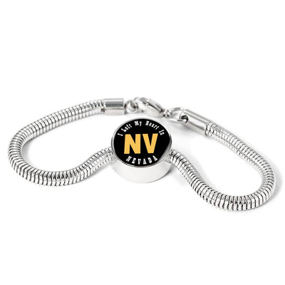 Heart In Nevada - Luxury Charm Bracelet
