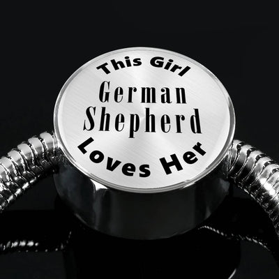 German Shepherd - Luxury Charm Bracelet