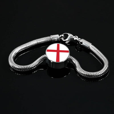 English Flag - Luxury Charm Bracelet