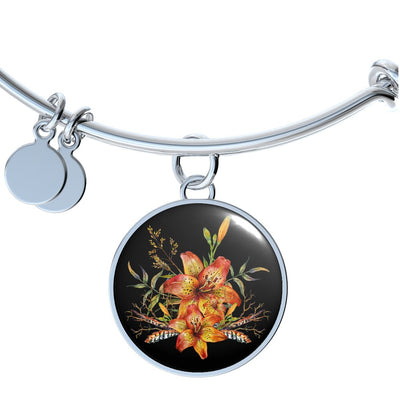 Tiger Lily Bouquet v2 - Bangle Bracelet - Unique Gifts Store