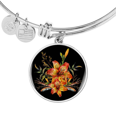 Tiger Lily Bouquet v2 - Bangle Bracelet