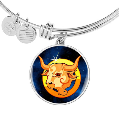 Zodiac Sign Taurus - Bangle Bracelet