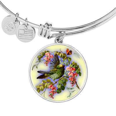 Bird And Flowers - Bangle Bracelet