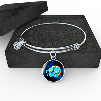 Zodiac Sign Aquarius - Bangle Bracelet
