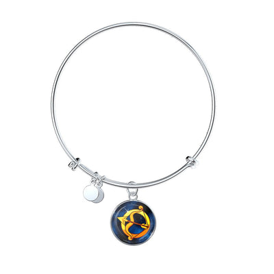 Zodiac Sign Sagittarius - Bangle Bracelet - Unique Gifts Store