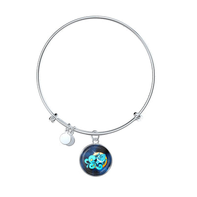 Zodiac Sign Aquarius - Bangle Bracelet - Unique Gifts Store