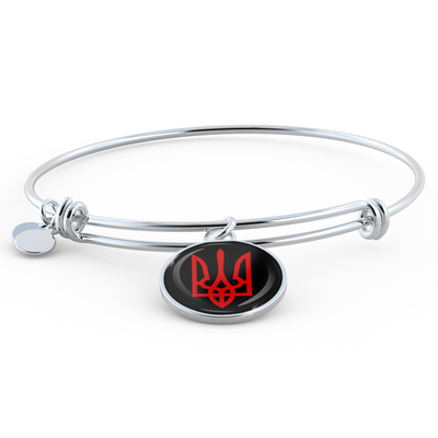 Tryzub (Red) - Bangle Bracelet - Unique Gifts Store