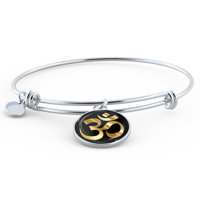 Golden Om Symbol - Bangle Bracelet - Unique Gifts Store