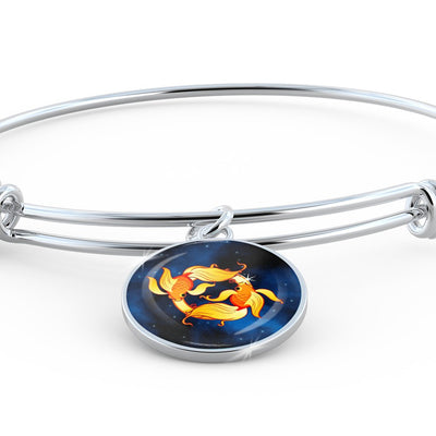 Zodiac Sign Pisces - Bangle Bracelet - Unique Gifts Store