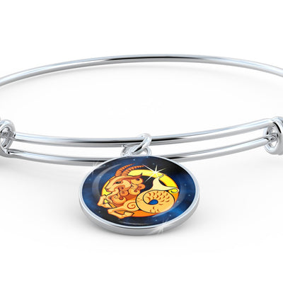 Zodiac Sign Capricorn - Bangle Bracelet - Unique Gifts Store