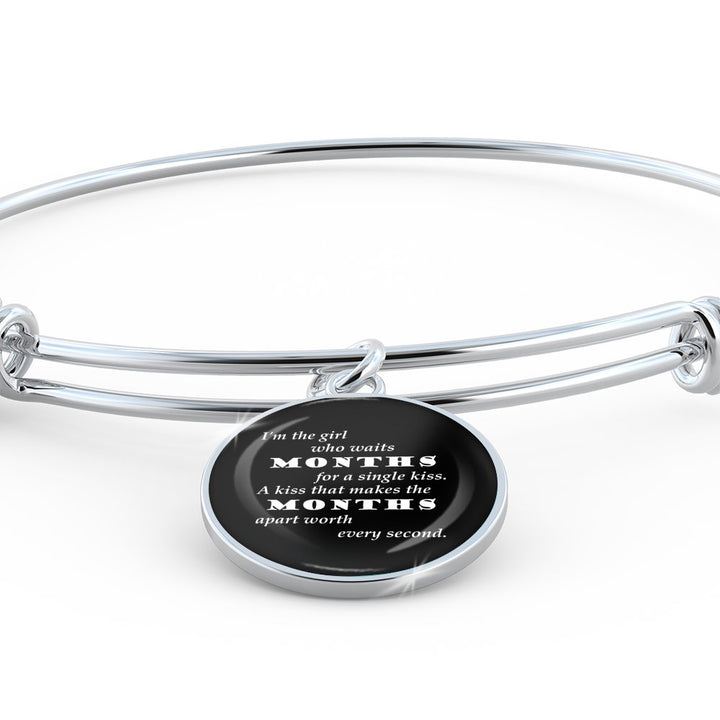A Single Kiss - Bangle Bracelet - Unique Gifts Store