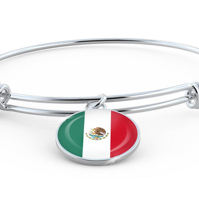 Mexican Flag - Bangle Bracelet