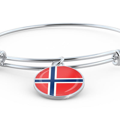 Norwegian Flag - Bangle Bracelet