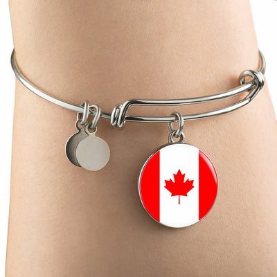 Canadian Flag - Bangle Bracelet