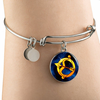 Zodiac Sign Sagittarius - Bangle Bracelet