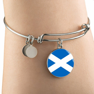 Scottish Flag - Bangle Bracelet