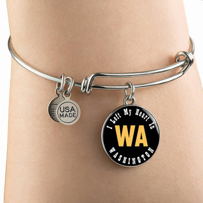 Heart In Washington - Bangle Bracelet
