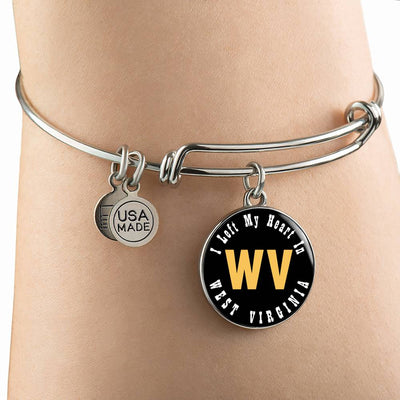 Heart In West Virginia - Bangle Bracelet