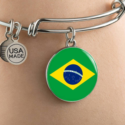 Brazilian Flag - Bangle Bracelet