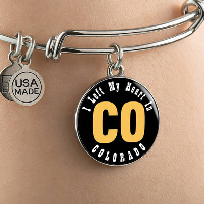 Heart In Colorado - Bangle Bracelet