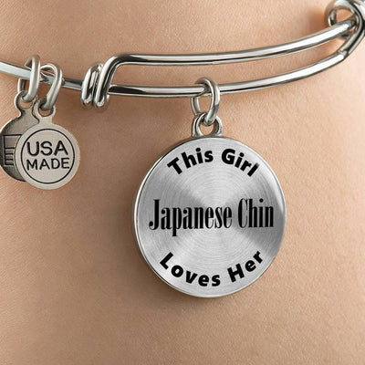 Japanese Chin - Bangle Bracelet