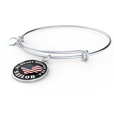 My Heart Belongs To A Sailor - Bangle Bracelet