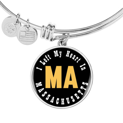 Heart In Massachusetts - Bangle Bracelet