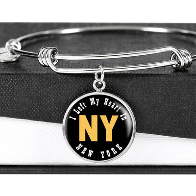 Heart In New York - Bangle Bracelet