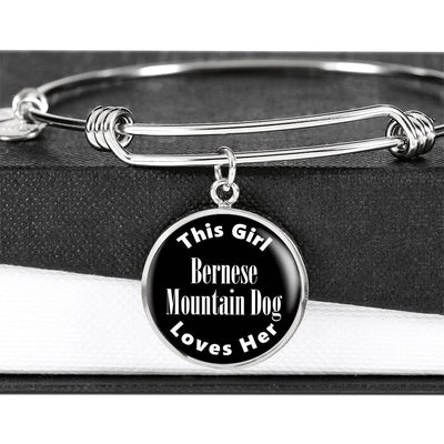 Bernese Mountain Dog v2 - Bangle Bracelet