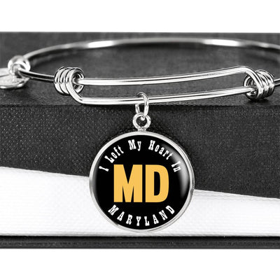 Heart In Maryland - Bangle Bracelet