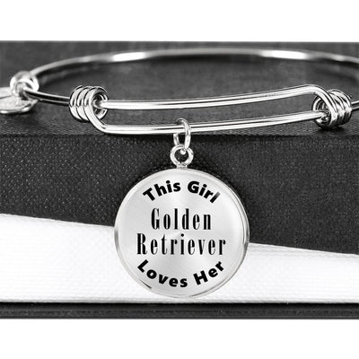 Golden Retriever - Bangle Bracelet
