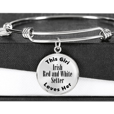 Irish Red and White Setter - Bangle Bracelet