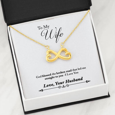 002 - To Wife From Husband - Infinity Heart Necklace