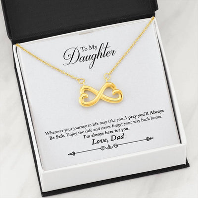 030 - To Daughter From Dad - Infinity Heart Necklace