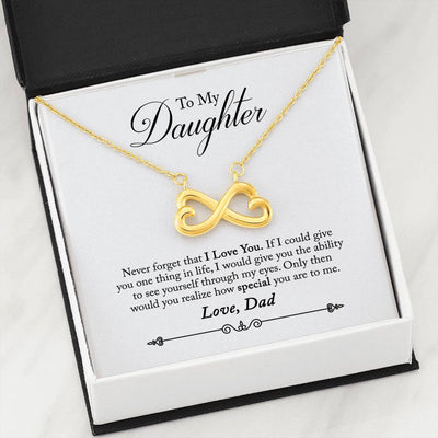 031 - To Daughter From Dad - Infinity Heart Necklace